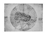 Plan of Imola, Italy, C1502 Giclée par Leonardo Da Vinci