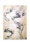 Four Studies of Horses' Legs, C1500 Giclée par Leonardo Da Vinci