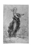 Floating Female Figure  Late 15th or Early 16th Century