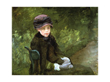 Young Lady in the Park  C1880