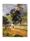 Horse on Road  Tahitian Landscape  1899