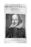 William Shakespeare  English Playwright  1623