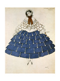 Chiarina  Design for a Costume for the Ballet Carnival Composed by Robert Schumann  1919