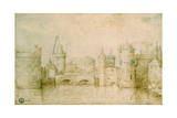 View of the Ancient Fortifications of Amsterdam  Netherlands  1562