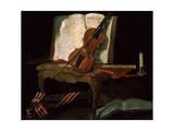 Still Life with a Violin  19th Century