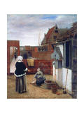 A Woman and a Maid in a Courtyard  C1660-1661