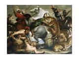 Tiger, Lion and Leopard Hunt, 1616 Giclée par Peter Paul Rubens