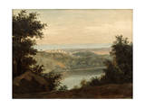 Lake Nemi  in the Background the City of Genzano  Late 18th-Early 19th Century
