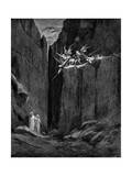 Dante Protected by Virgil from Harm by Demons  1863