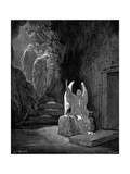 Angel Showing Mary Magdalene and 'The Other Mary' Christ's Empty Tomb  1865-1866