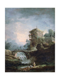 Landscape with Waterfall  C1750-1808