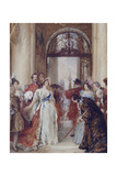 Study for the Opening of the Royal Exchange by Queen Victoria  London  C1891