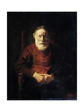 Portrait of an Old Man in Red  1652-1654