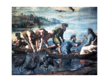 The Miraculous Draught of Fishes, 1515 Giclée par Raphael