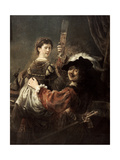 The Prodigal Son in the Tavern' (Rembrandt and Saski)  C1635
