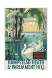 Hampstead Heath and Parliament Hill  London County Council (LC) Tramways Poster  1933