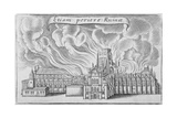 Old St Paul's Cathedral Burning in the Great Fire of London  1666
