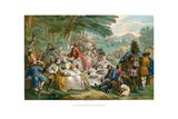 Hunt Breakfast, 1737 Giclée par Urrabieta