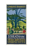 Streatham Common and the Rookery  London County Council (LC) Tramways Poster  1927