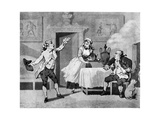 Actor Reciting to a Manager  Late 18th Century