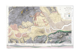 Geological Map of London and the Surrounding Area  1871
