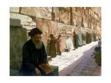 The Wailing Wall  Jerusalem  19th Century