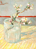 Sprig of Flowering Almond Blossom in a Glass  1888