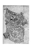 Honeysuckle Pattern Printed on Linen  1883
