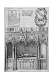 Tomb of Simon Burley in Old St Paul's Cathedral  City of London  1656
