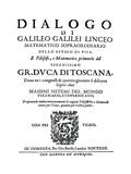 Title Page of Dialogo  by Galileo  1632