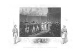 The Surrender of Two Sons of Tipoo Sultan'  C1860