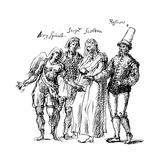 Figures Designed by Inigo Jones for the Masque of the Fortune Isles  17th Century