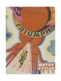 Poster Advertising Triumph Motor Bikes, 1929 Giclée