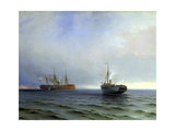 Capture of the Turkish Military Transport 'Messina  13th December 1877