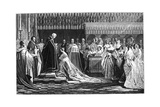 Queen Victoria Receiving the Sacrament at Her Coronation  June 1838
