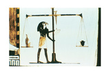 The God Horus Weighing the Heart of the Dead in a Balance  Ancient Egyptian  28th Dynasty  C400 Bc