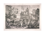 The Humours and Diversions of Southwark Fair  London  1733