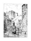 Edinburgh Castle as Seen from the Vennel  1911-1912
