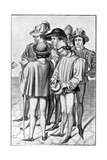 Men Wearing Favours in their Hats  15th Century