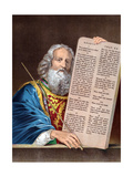 Moses with the Ten Commandments, Mid 19th Century Giclée