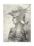 A Bust of a Warrior in Profile, 1882 Giclée par Leonardo Da Vinci