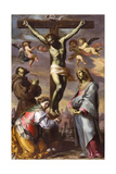 The Crucifixion with the Virgin and Saints Francis and Agatha  Mid of 17th C