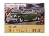 Poster Advertising a Packard Clipper  1946