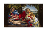 Rest on the Flight into Egypt with Saint Justina  1529