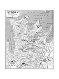 Map of Central Sydney, New South Wales, Australia, C1924 Giclée