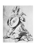 A Woman Playing a Stringed Instrument  Early 17th Century