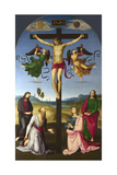 The Crucified Christ with the Virgin Mary, Saints and Angels (The Mond Crucifixio), 1502-1503 Giclée par Raphael