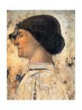 Sigismondo Pandolfo Malatesta (Detail of Fresco in Tempio Malatestiano  Rimin)  1451