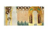 The Beethoven Frieze, Detail: the Arts, Chorus of Paradise, Embrace, 1902 Giclée par Gustav Klimt