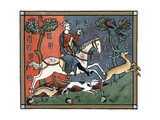 A Plantagenet King of England Out Hunting Giclée